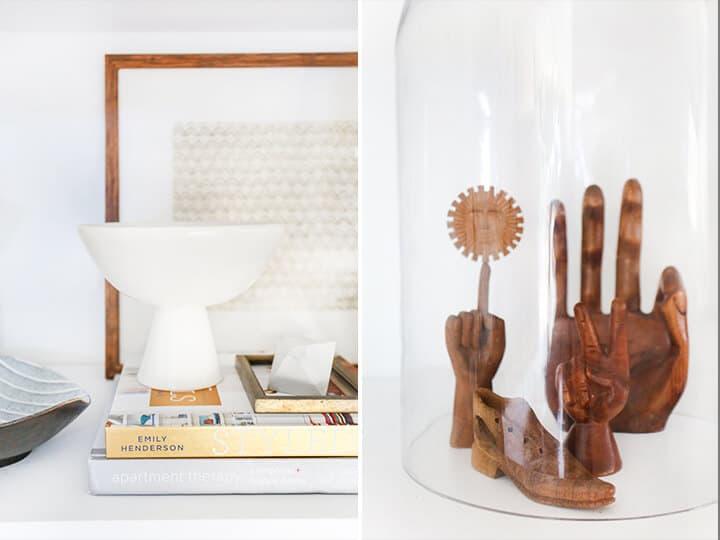 3 Steps to Styling Your Bookcase_Emily Henderson_midcentury_bookshelf_modern_blue_white_books_detail 4