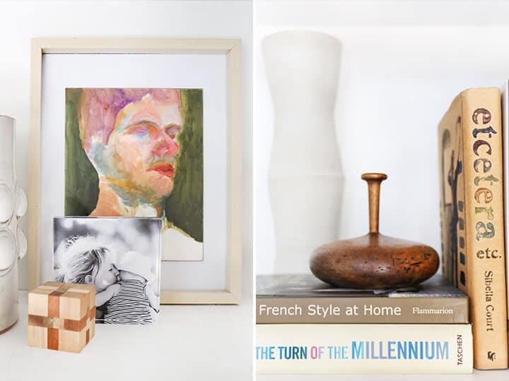 3 Steps to Styling Your Bookcase_Emily Henderson_midcentury_bookshelf_modern_blue_white_books_detail 5