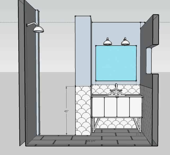 Master Bathroom_shower wall 1_rendering 2