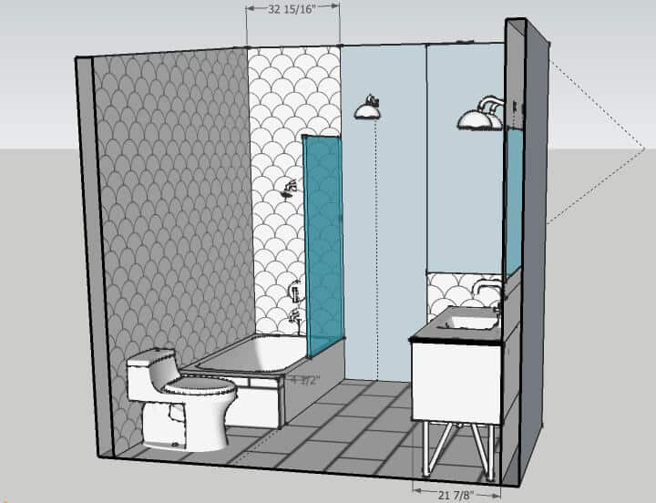 Master Bathroom_shower wall 1_rendering