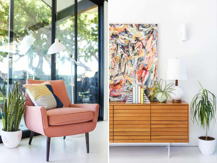 Modern_Pink_Arm_Chair_Wood_Credenza
