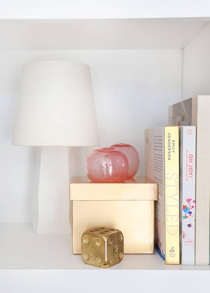 Pink Shelf Styling