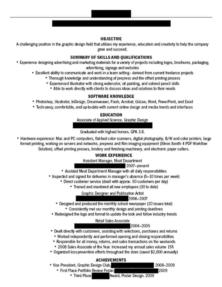Dissecting The Good (And Bad) Resume In A Creative Field - Emily ...