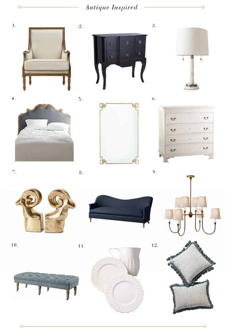 Design Mistakes_Faux No Mo_Roundup_Antique Inspired Furniture Accessories