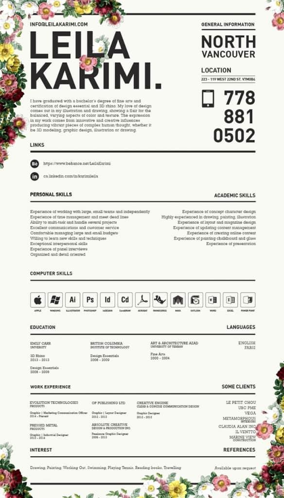 Floral_Resume