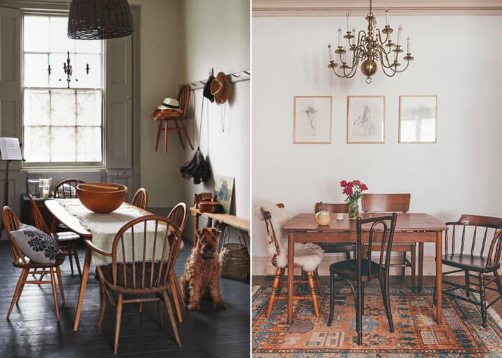 Kitchen Trends_Emily Henderson_Windsor_Shaker_Farmhouse_Mismatched Chair
