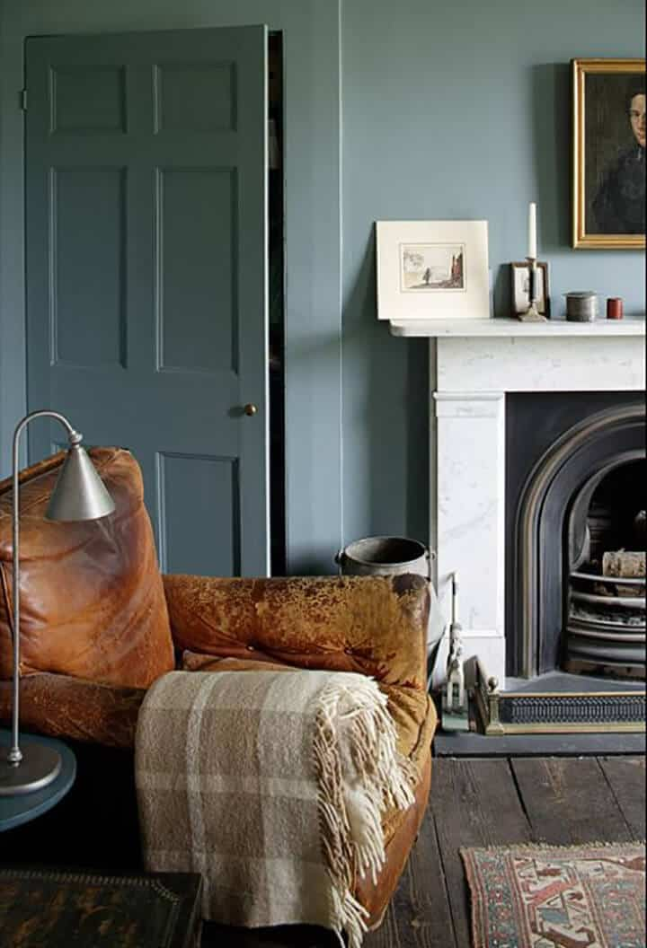 Blue_Stone_Walls_Worn_Leather_Chair