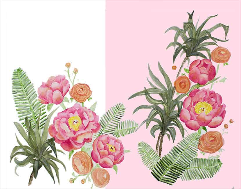 Custom Floral Wallpaper Emily Henderson