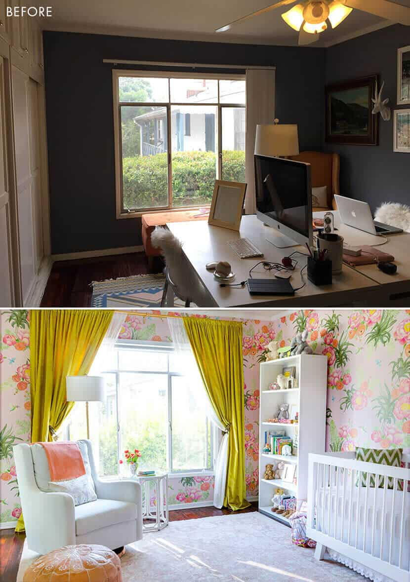 Emily Henderson Sugarman Nursery Before After