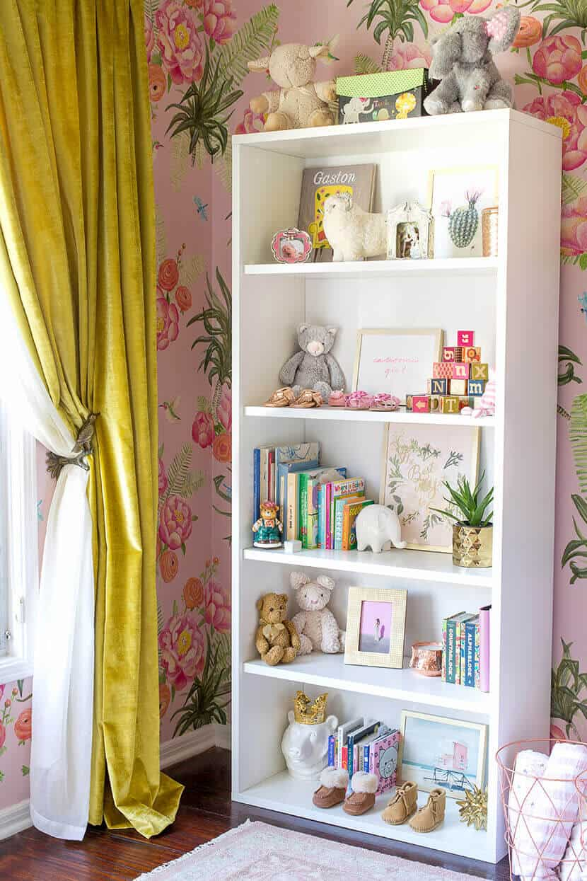 Girls Nursery Book Shelf Emily Henderson Sara Sugarman