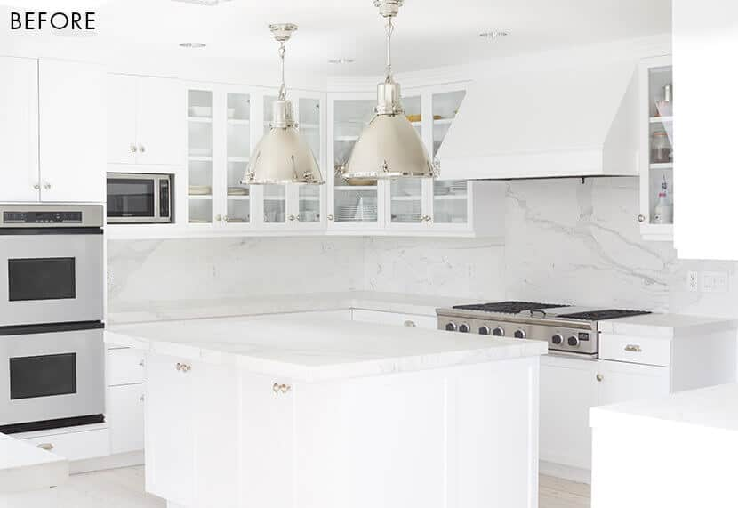 Modern White Kitchen Color Pop Emily Henderson Before