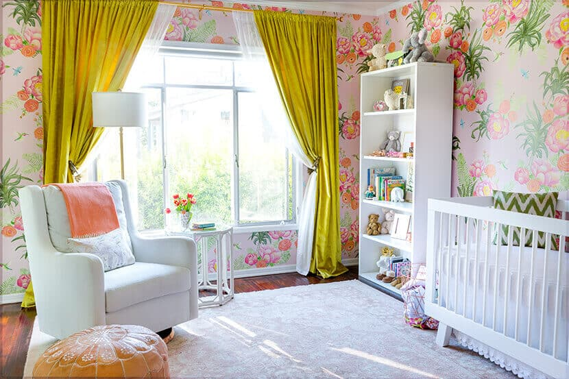 Sara Sugarman Girls Nursery Emily Henderson