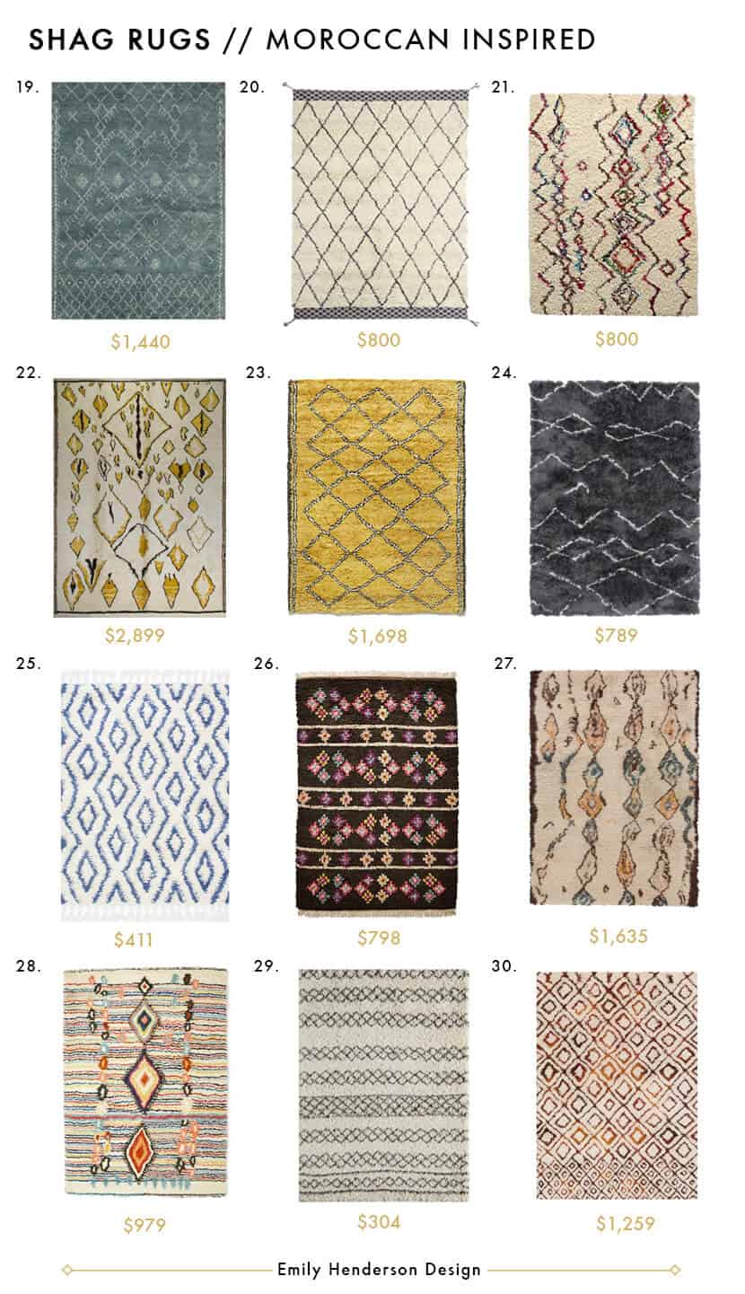 Awesome Shag Rugs - Style by Emily Henderson Moroccan