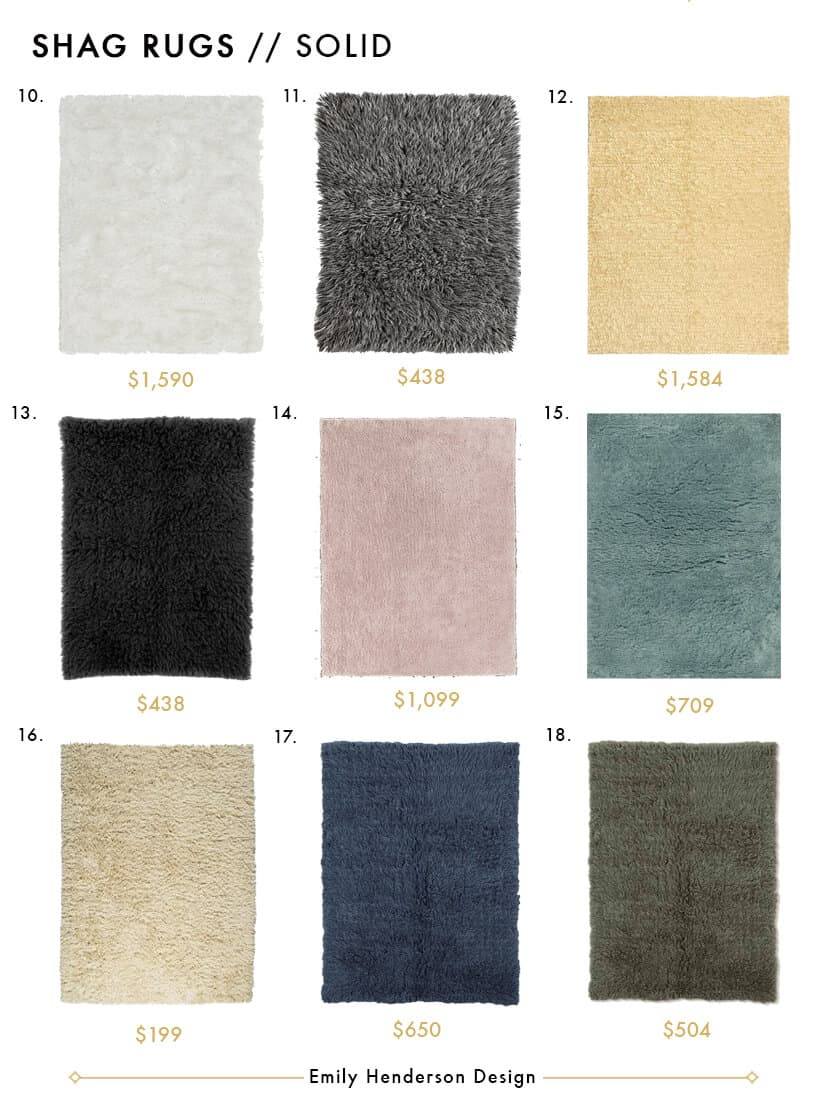 Awesome Shag Rugs - Style by Emily Henderson Solid