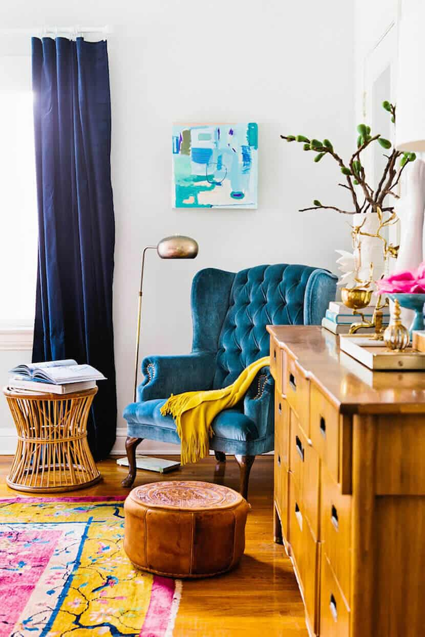 Blue Tufted Chair