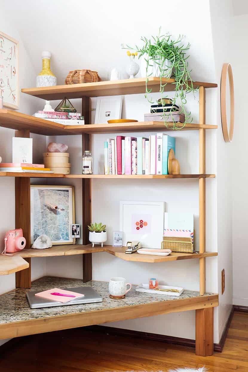 Bright Cute Bedroom Desk
