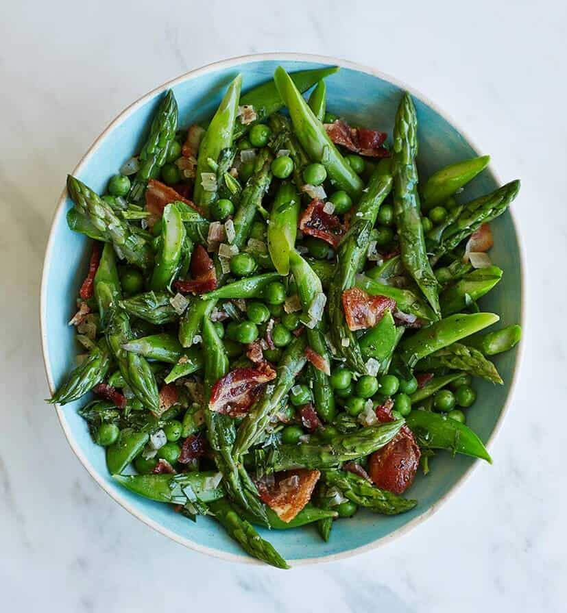 Easter Lunch Fresh Green Pea Salad