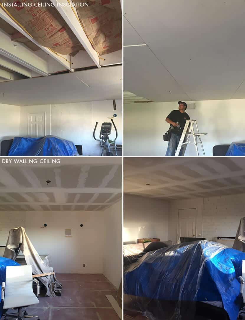 Emily Henderson Ceiling Insullation And Drywall