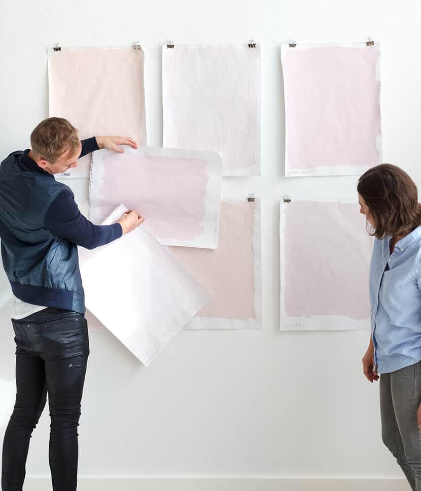Emily Henderson Choosing Pink Pastel Paints