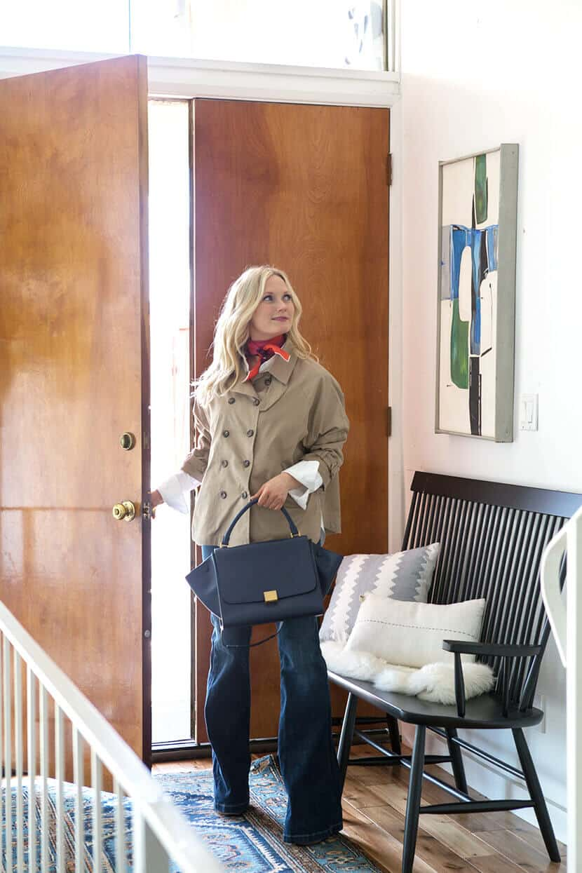 Emily Henderson Fashion Trench Celine Bag