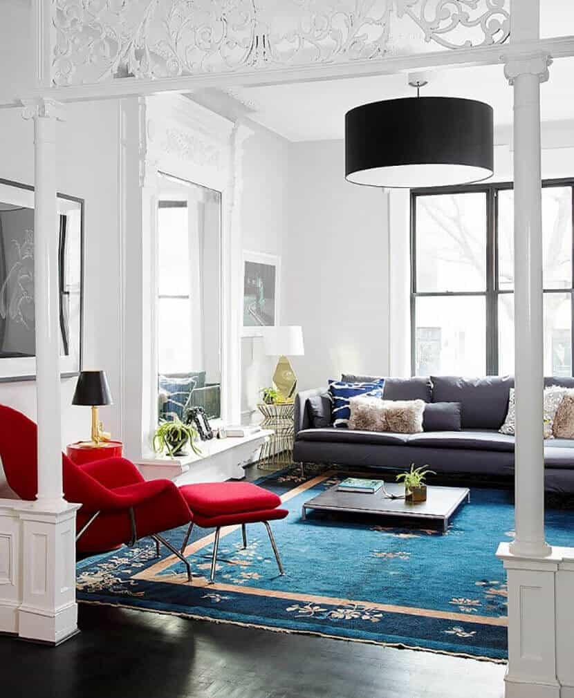 Emily Henderson Fiesta Red Living Room