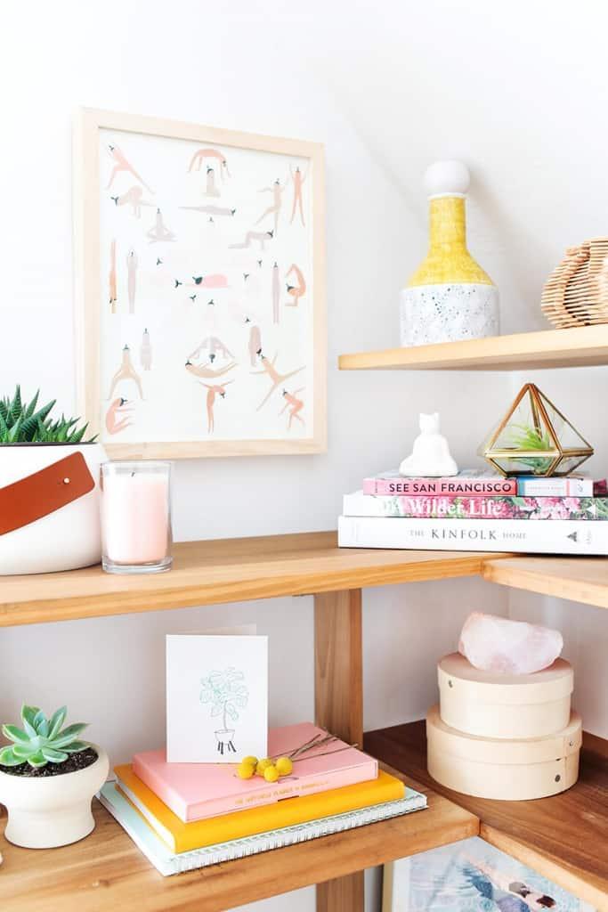 Emily Henderson Makeover Takeover Bright Minimal Shelf