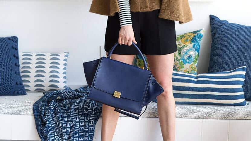 Emily Henderson Navy Celine Bag