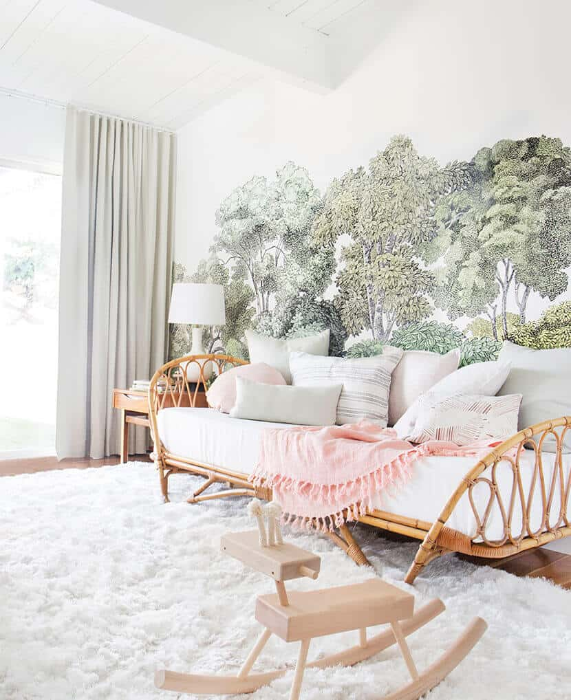 Emily Henderson Nursery Reveal Blush Green