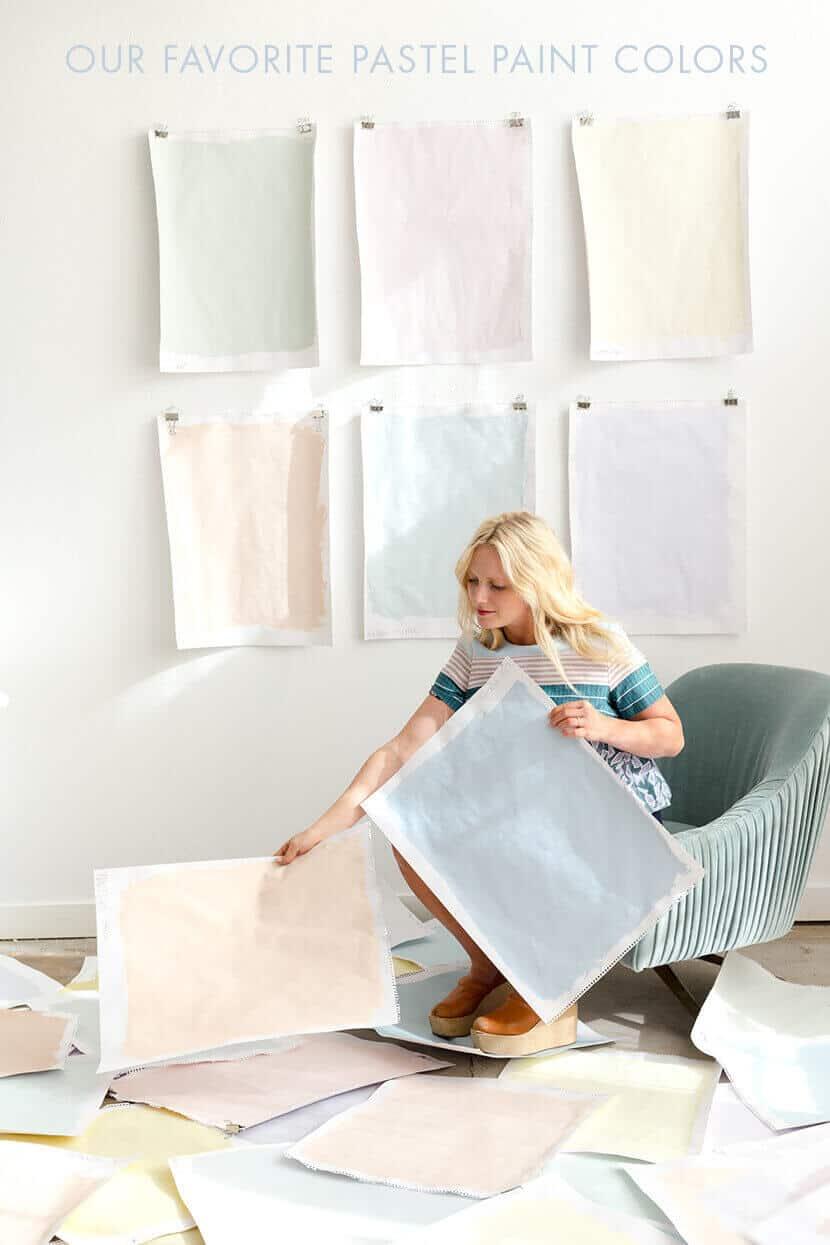 Emily Henderson Picking Pastel Paints