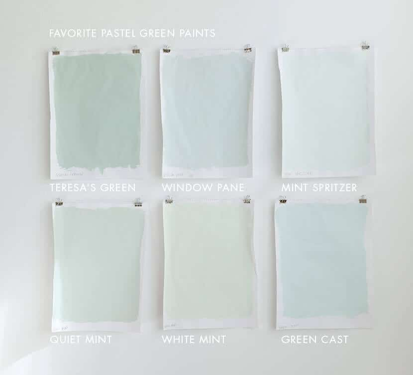 Favoirte Pastel Green Paints