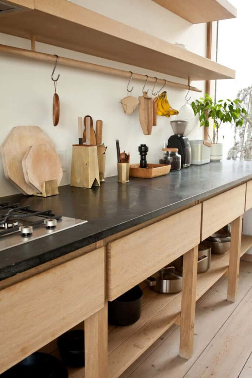 Japanese Wood Kitchen