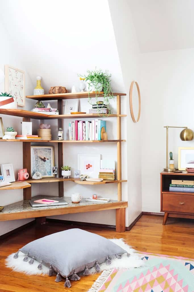 Midcentury Bright Home Office Emily Henderson