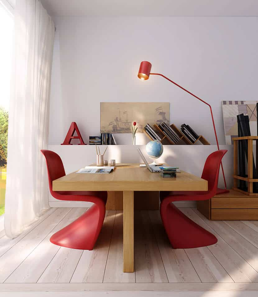 Modern Red Office Chairs