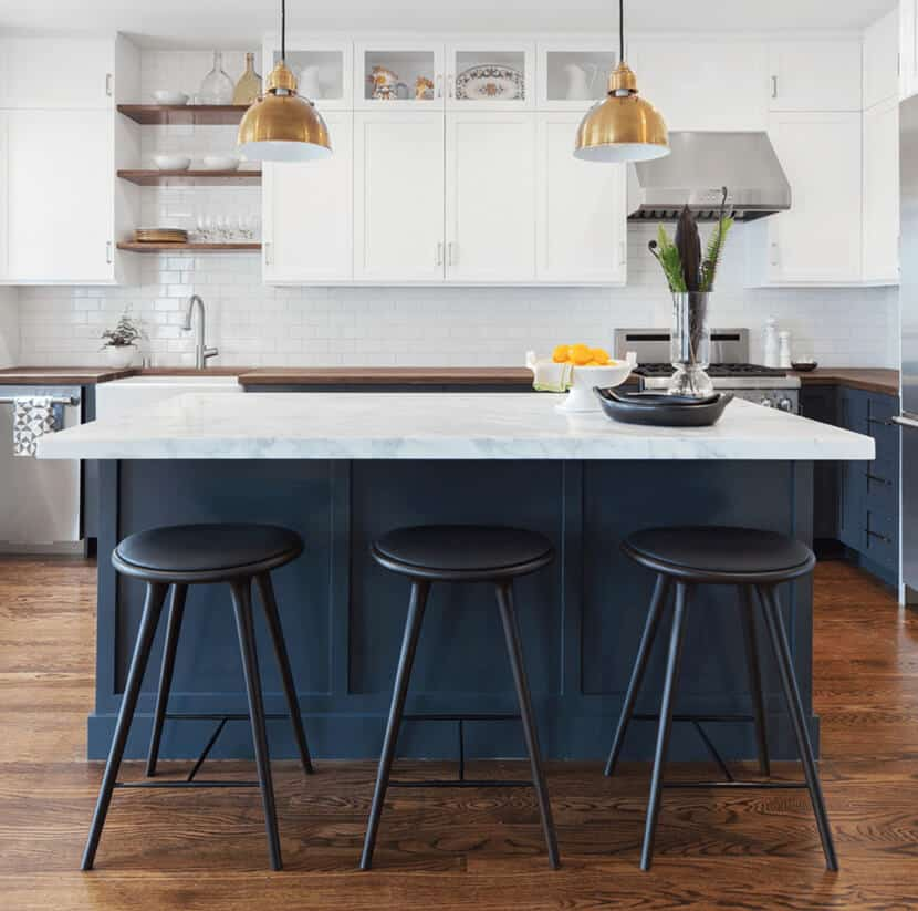 Navy Kitchen Bar Stools