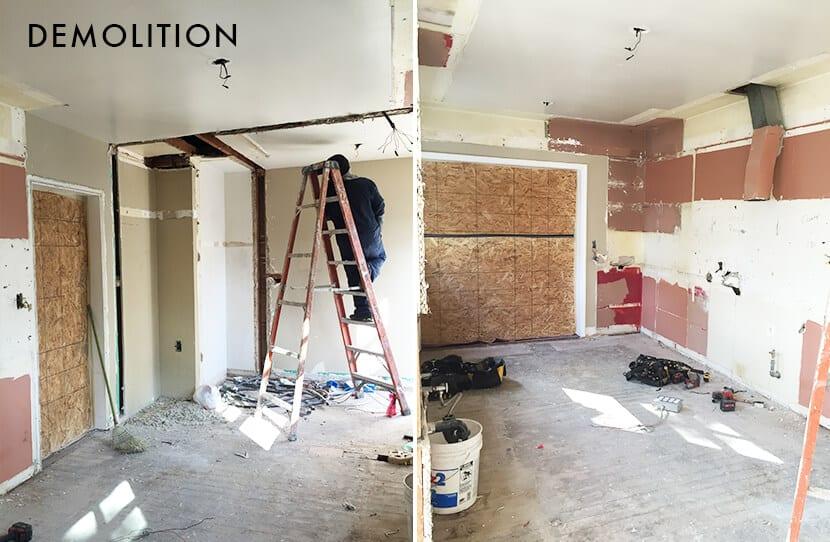 Nicole Lorey Emily Henderson Design Kitchen Demolition