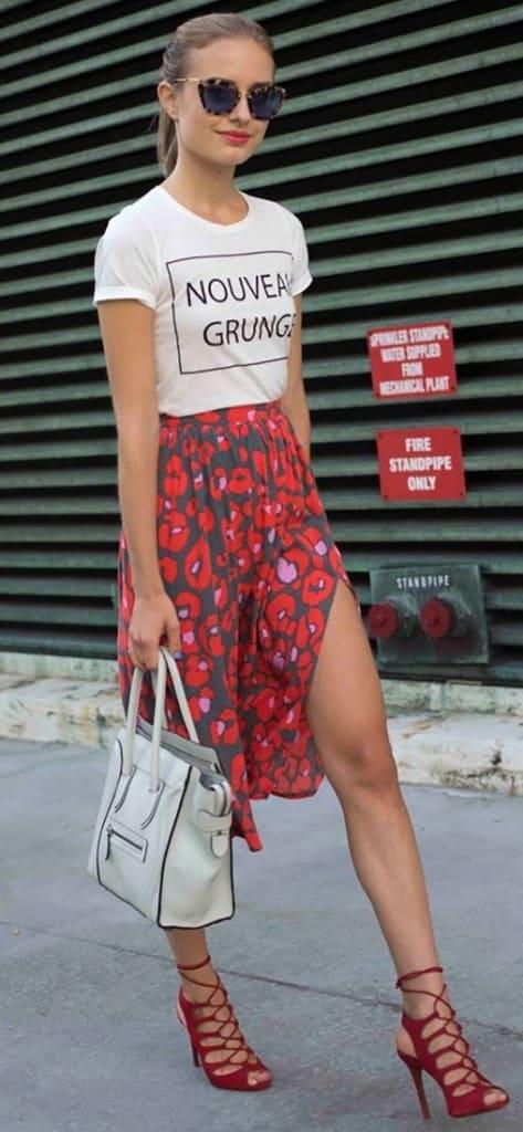 Nouveau Grunge Red Fashion