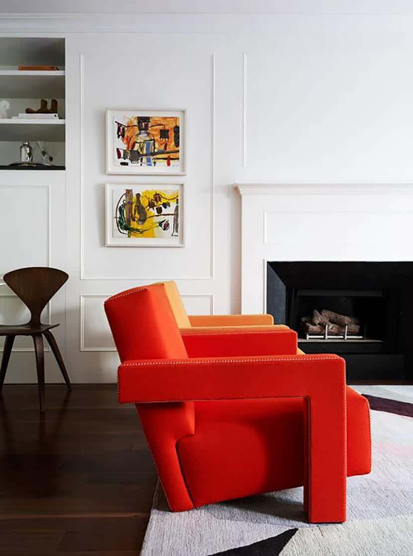 Red Accent Arm Chair