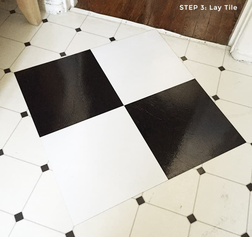 Step 3 Lay Tile