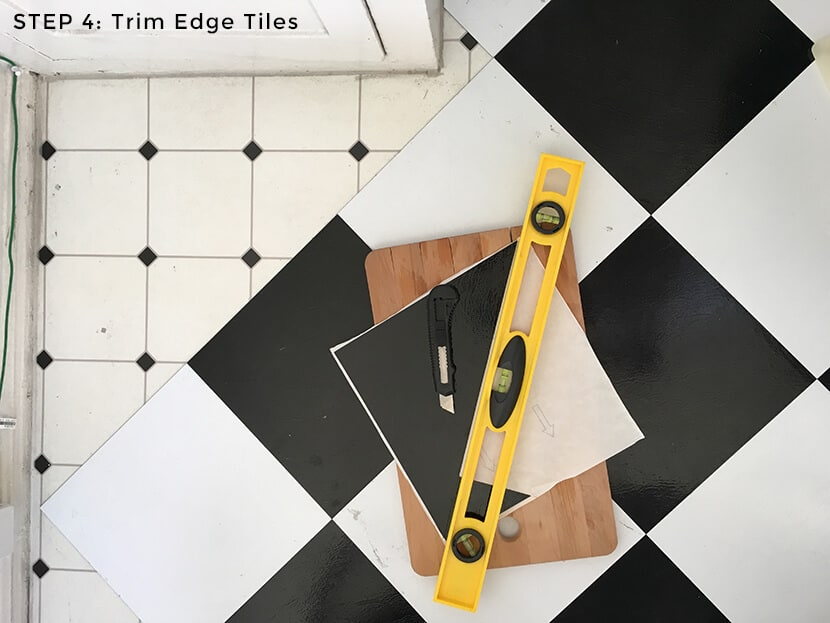 Step 4 Trim Edge Tiles