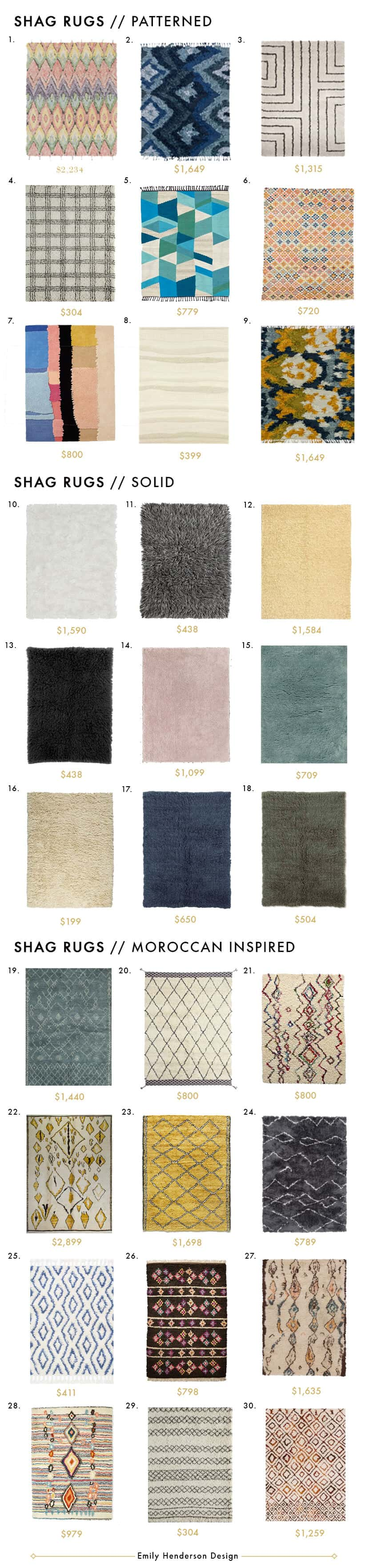 Awesome Shag Rugs - Style by Emily Henderson_FULL