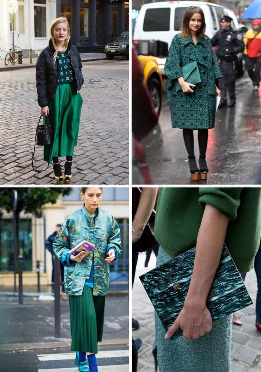 Color Trend Emerald and Teal Fashion 1