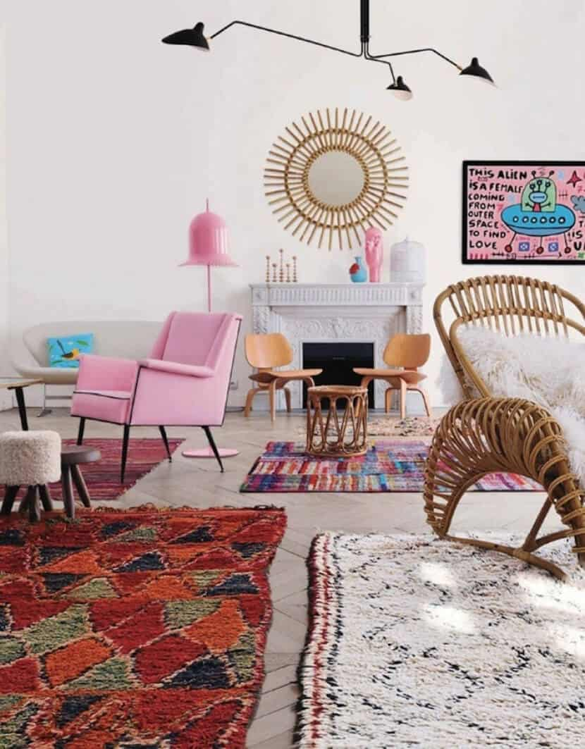 How To Mix Multiple Rugs In The Same Room A Roundup Emily Henderson