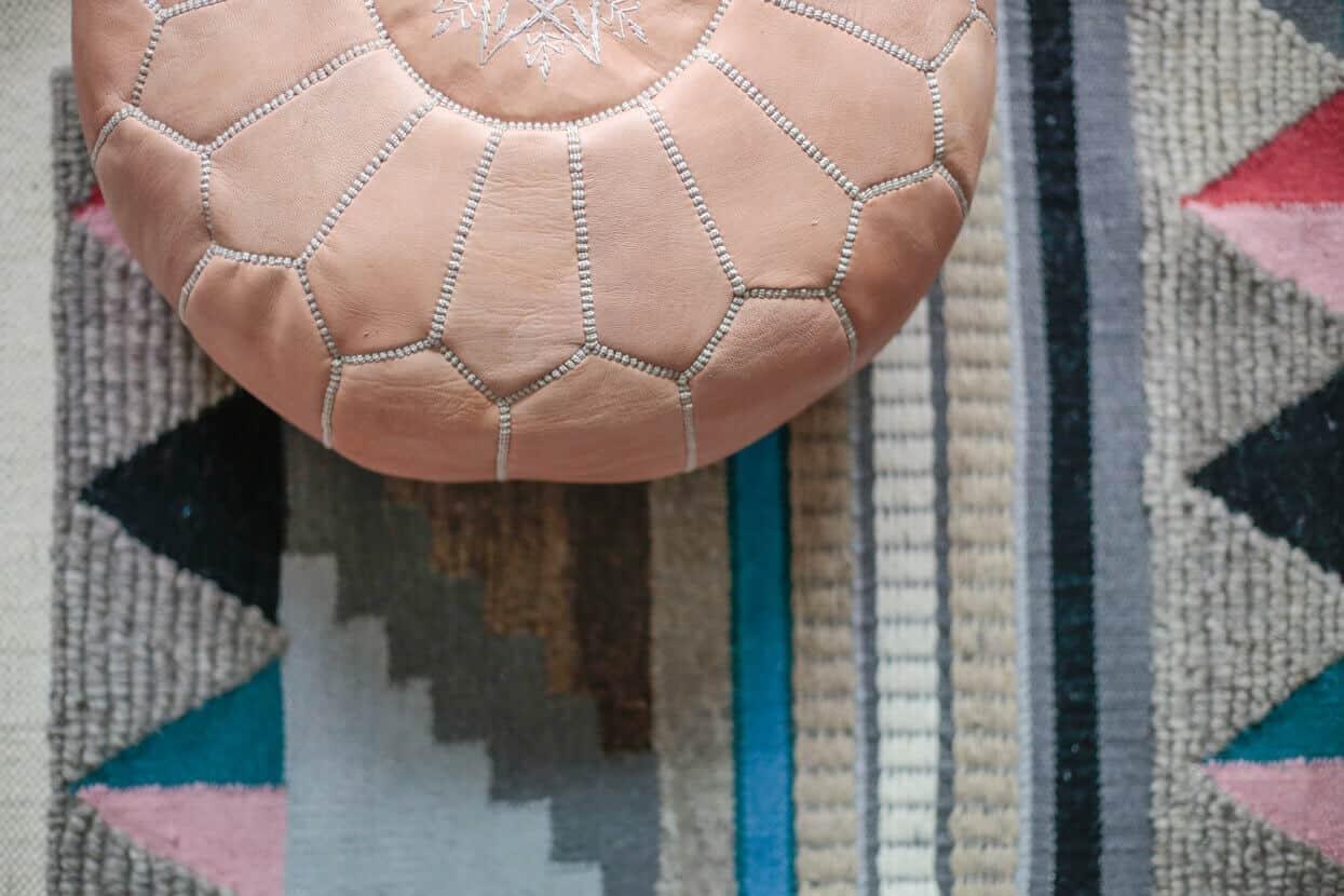 Gila DIY Window Film Happy Bright Pastel Emily Henderson Bamboo Seating Area 4