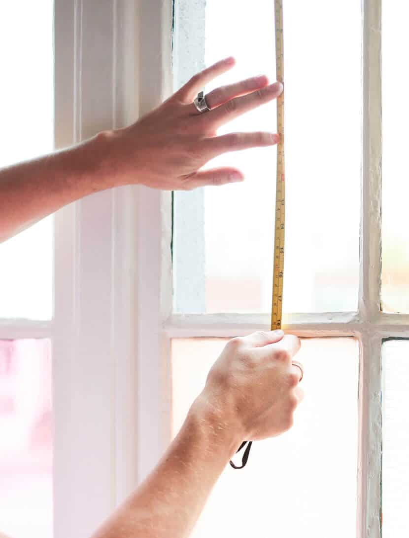 Gila DIY Window Film Happy Bright Pastel Emily Henderson Bamboo Seating Area Measure