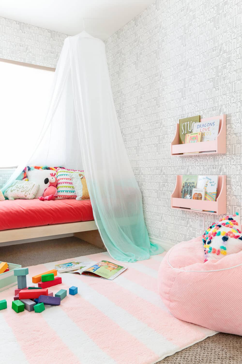 Emily Henderson Target Pillowfort Playroom Makeover Canopy