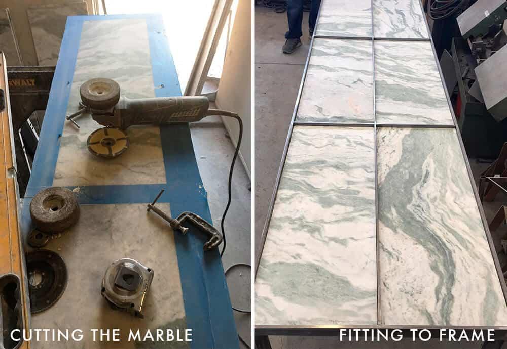 Adrienne Desk_Cutting Marble_Guest Bedroom_Office_Custom Desk_DIY