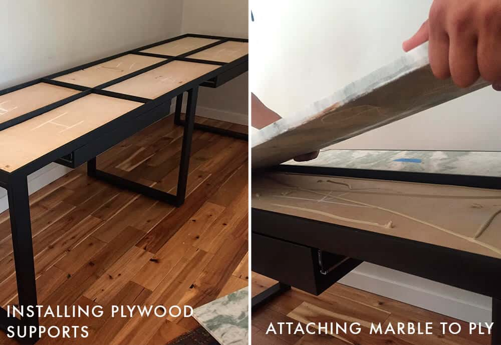 Adrienne Desk_Installing_Guest Bedroom_Office_Custom Desk_DIY