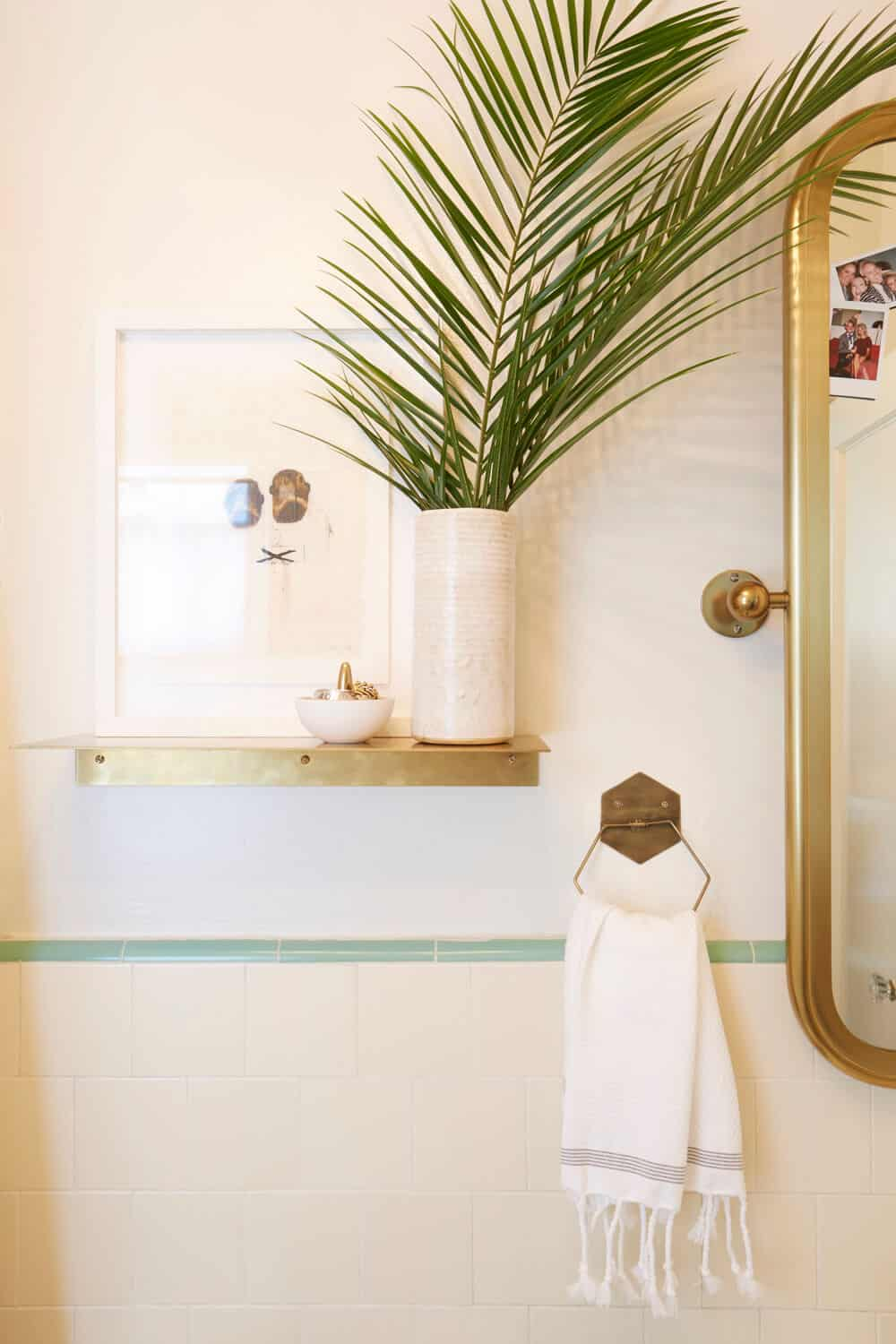 Apartment Rental Bathroom Makeover Takeover Redesign Brady Tolbert White and Turquoise_1_002