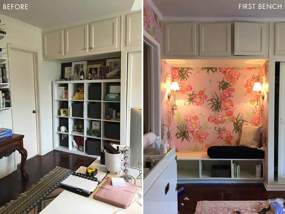 Before Photos Design Mistakes Who Pays For Them Girls Pink Nursery Bench
