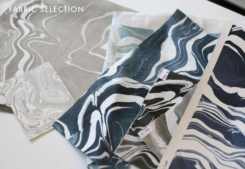Breckenridge Bedframe_FABRIC SELECTION_rebecca atwood marble_emily henderson